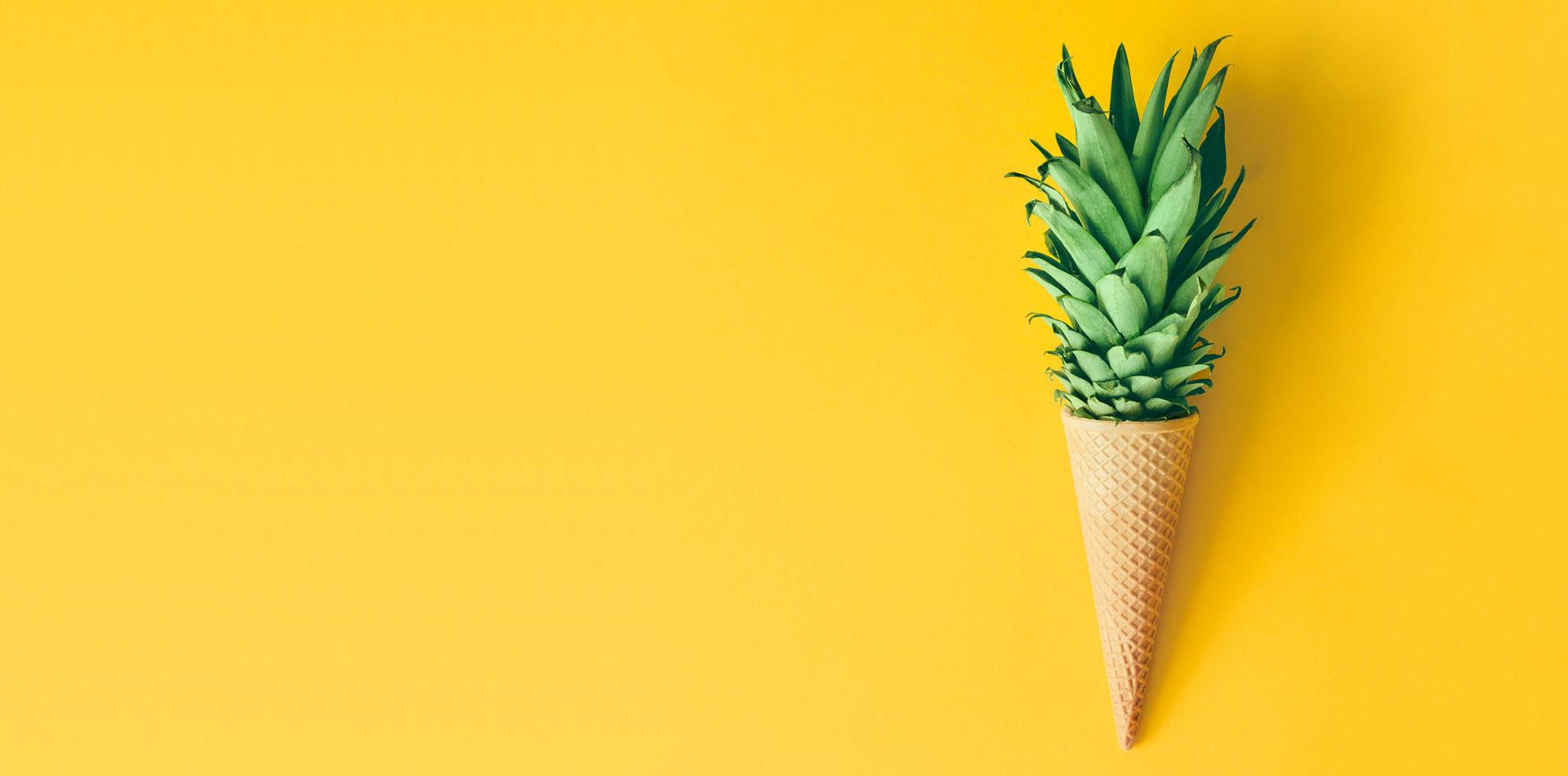 20FUENFZEHN Kreativagentur - Slider Motiv - Ananas Eistüte