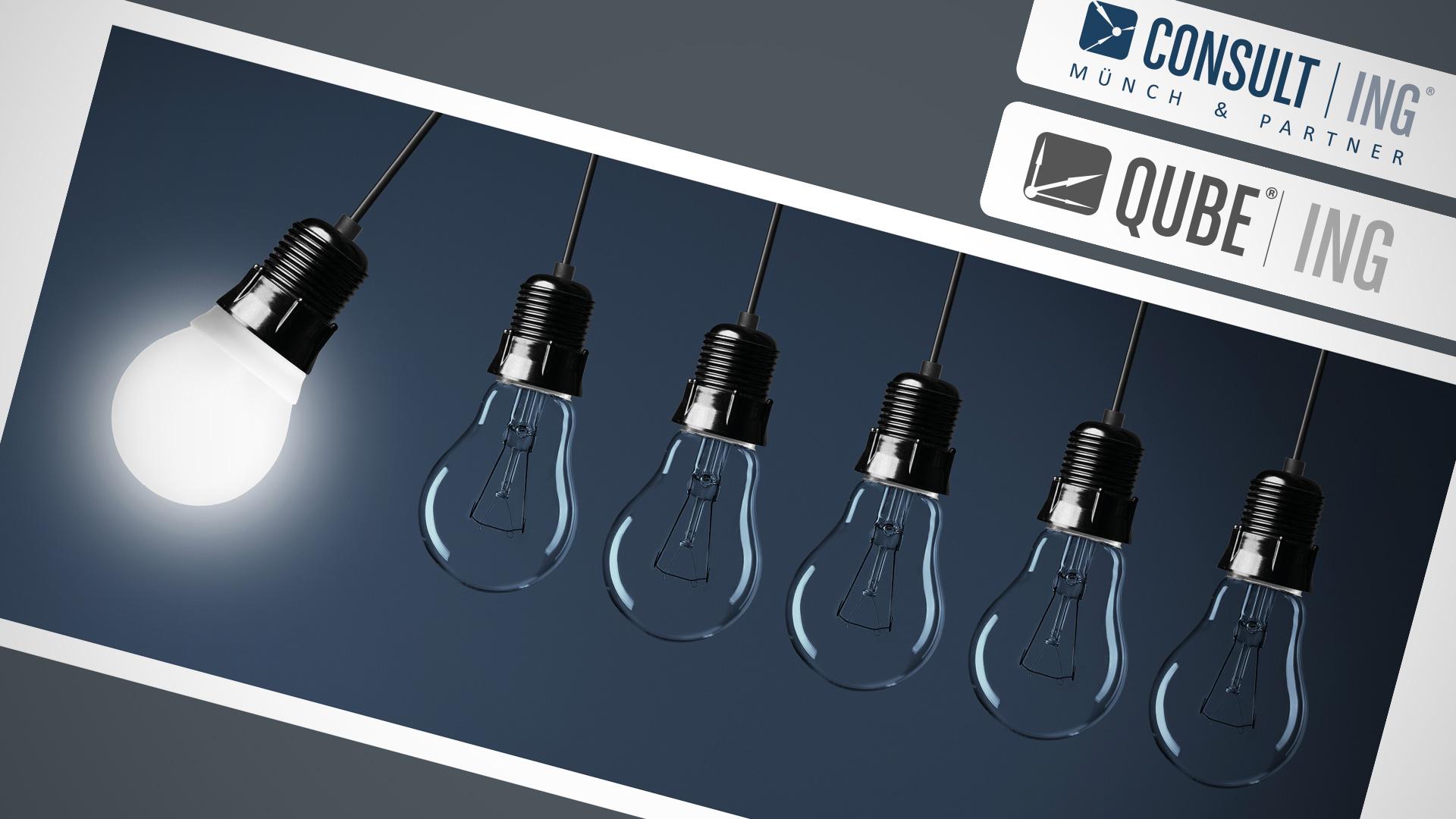 Consult|ING - QUBE|ING - Flyer, Broschüren und Rollups - Header