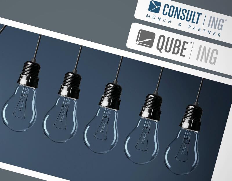 Consult|ING - QUBE|ING - 20Fuenfzehn - Portfolio - Flyer, Broschüren und Rollups - Teaser