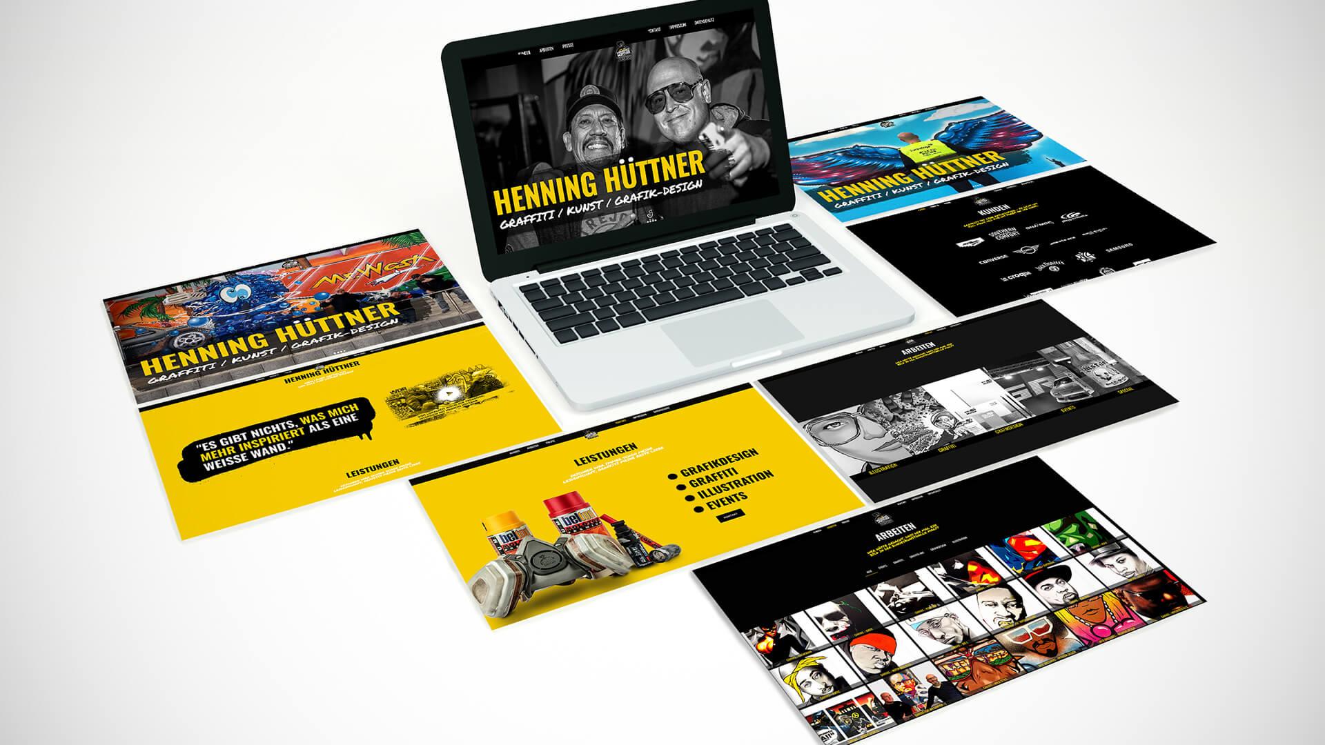 Henning Hüttner - Webseite - Header