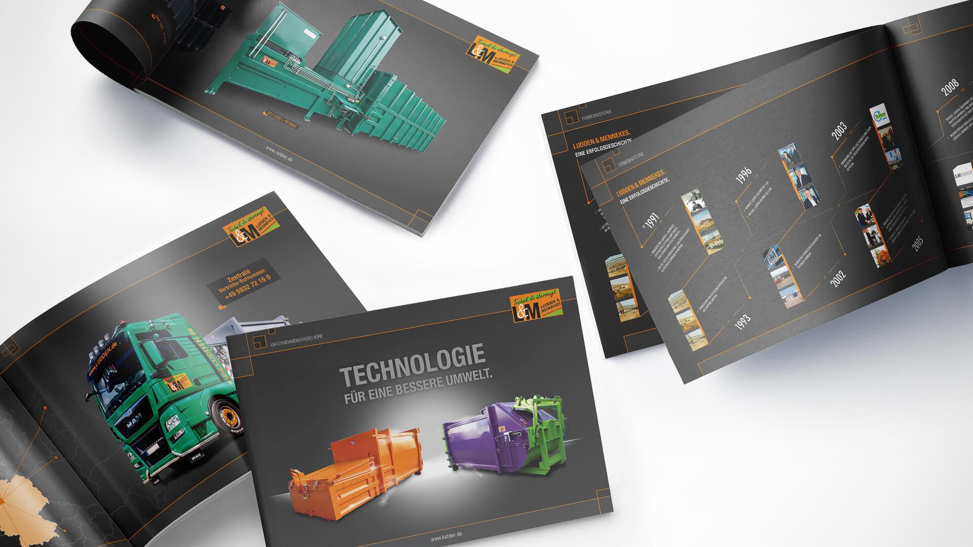 Ludden & Mennekes Entsorgungs-Systeme GmbH - Unternehmenesbroschüre - Header