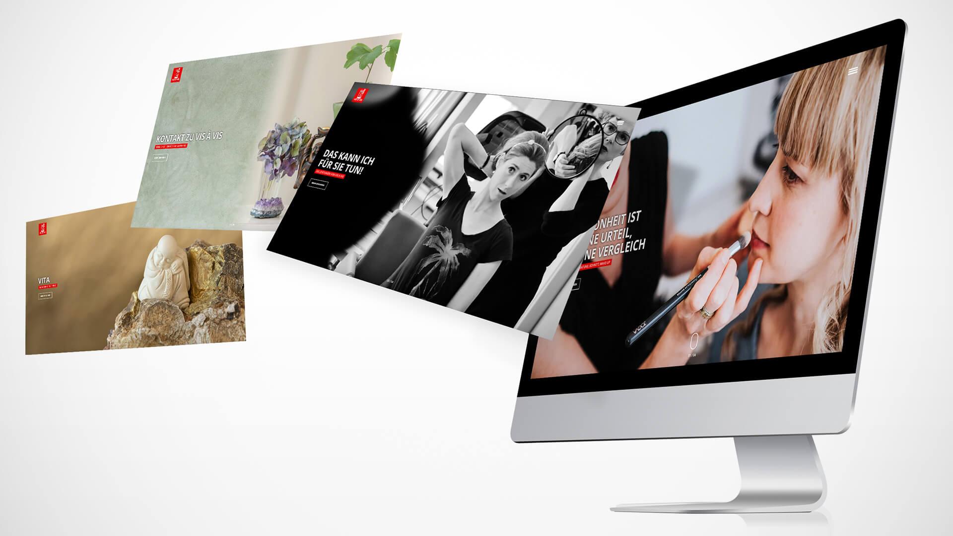 Vis à Vis Köln - Webseiten Relaunch - Header